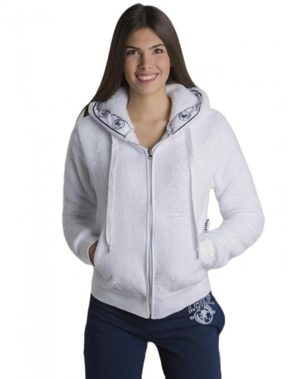 Woman hoody full zip sherpa...