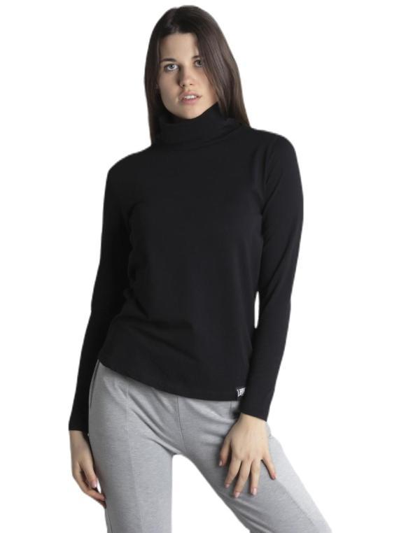 Woman t-shirt high collar...