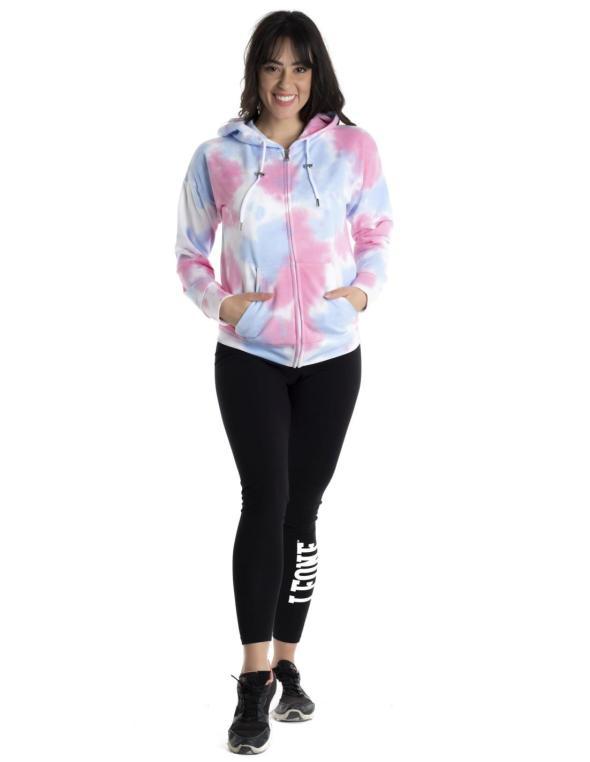 Woman hoody full zip Pink