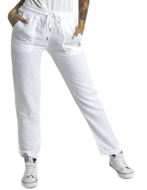 Pantaloni in lino da donna...