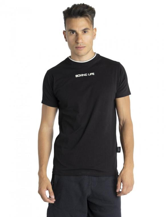 Man t-shirt short sleeves B&W