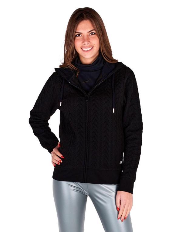 Woman hoody full zip bonded...