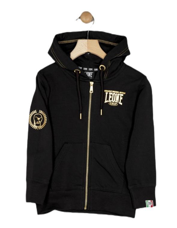 Boy hoody full zip Gold