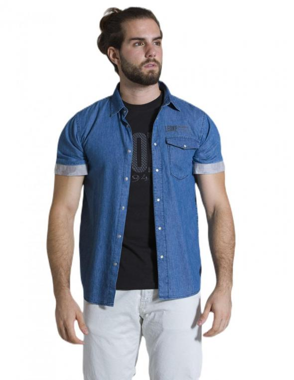 Camicia da uomo in denim...