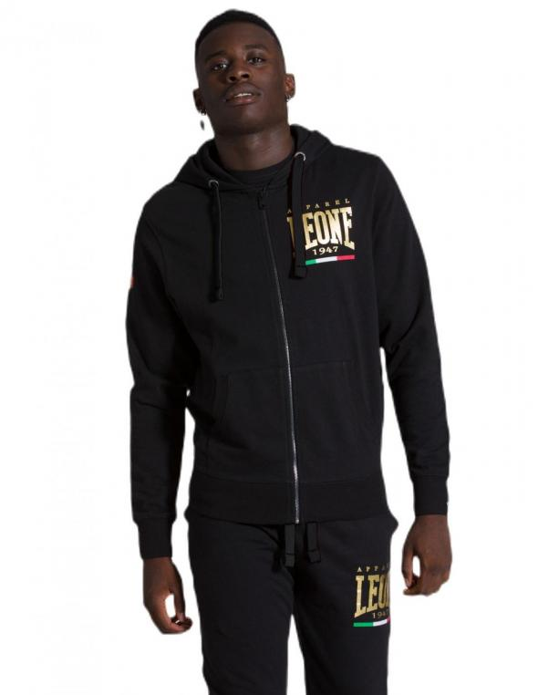 Man hoody full zip Gold