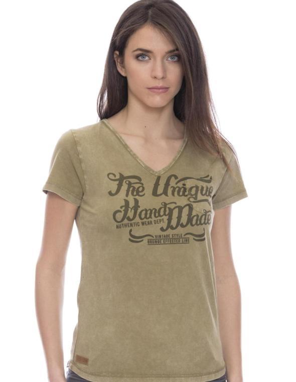 T-shirt da donna scollo V...