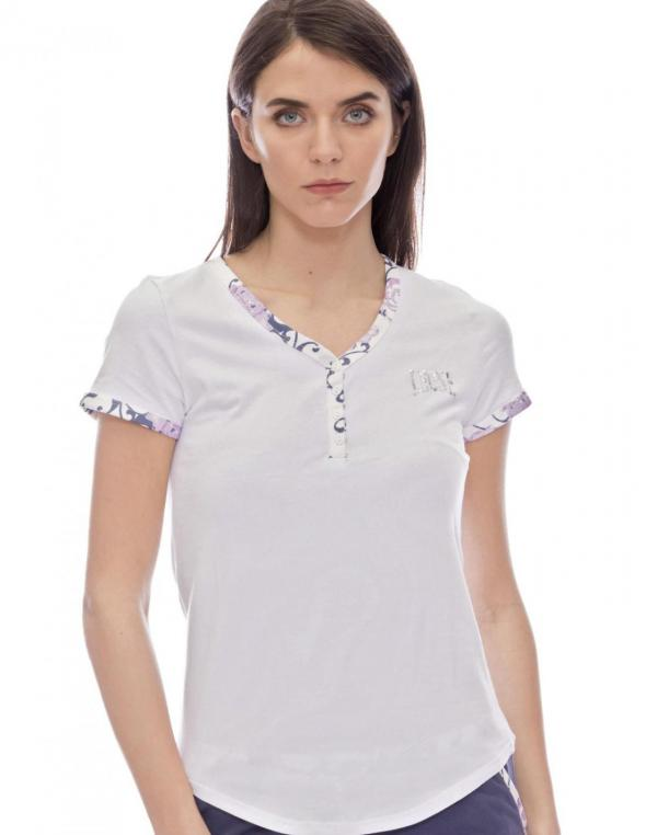WOMAN TSHIRT SS BUTTONED