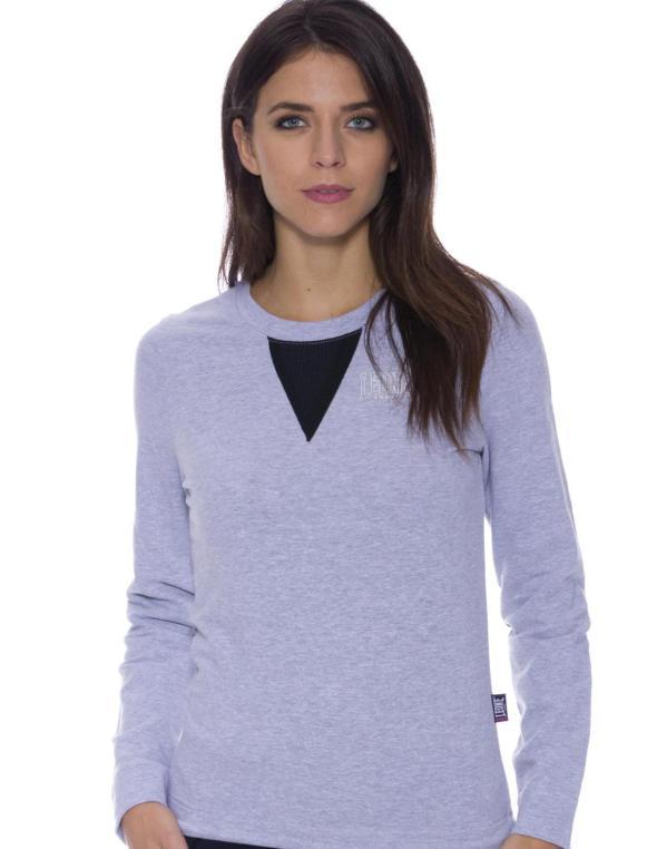 Woman crewneck sweatshirt Mesh