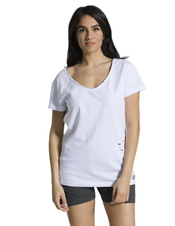 Woman T-shirt V neck short...