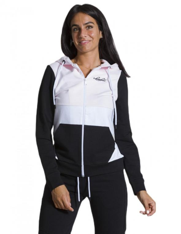 Woman hoody full zip Color...