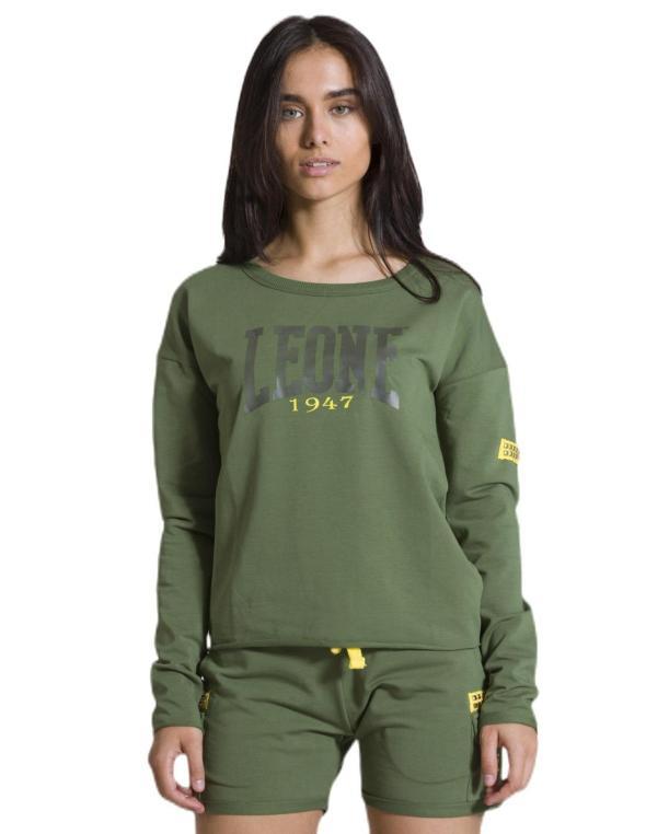 Woman crewneck Military Neon