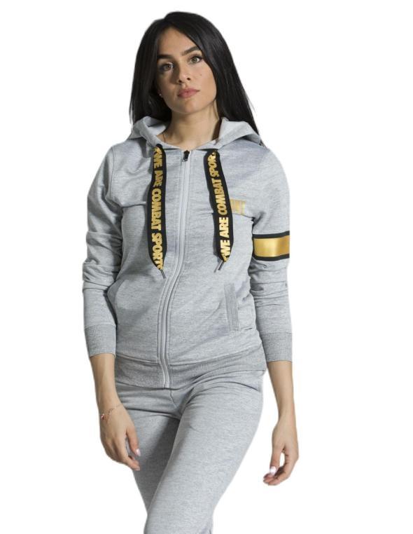 Woman hoody zipped  Gold