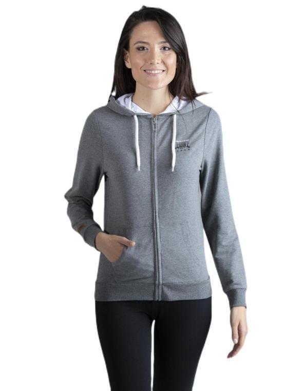 Woman hoody zipped  Grey Sand