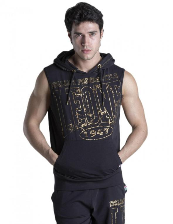 Man hoody sleveless Gold