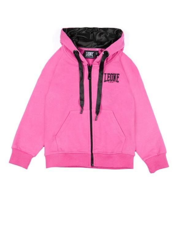 Girl hoody full zip Fluo&Black