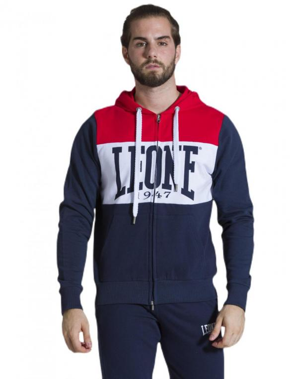 Man hoody full zip Color Block